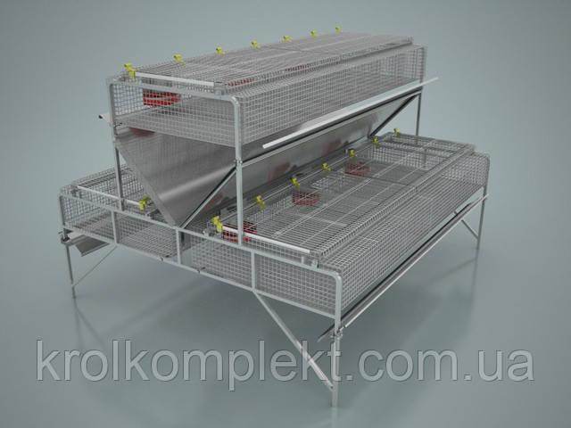 Клетка для кролей откормочная КО-1,5 на 108 кроликов