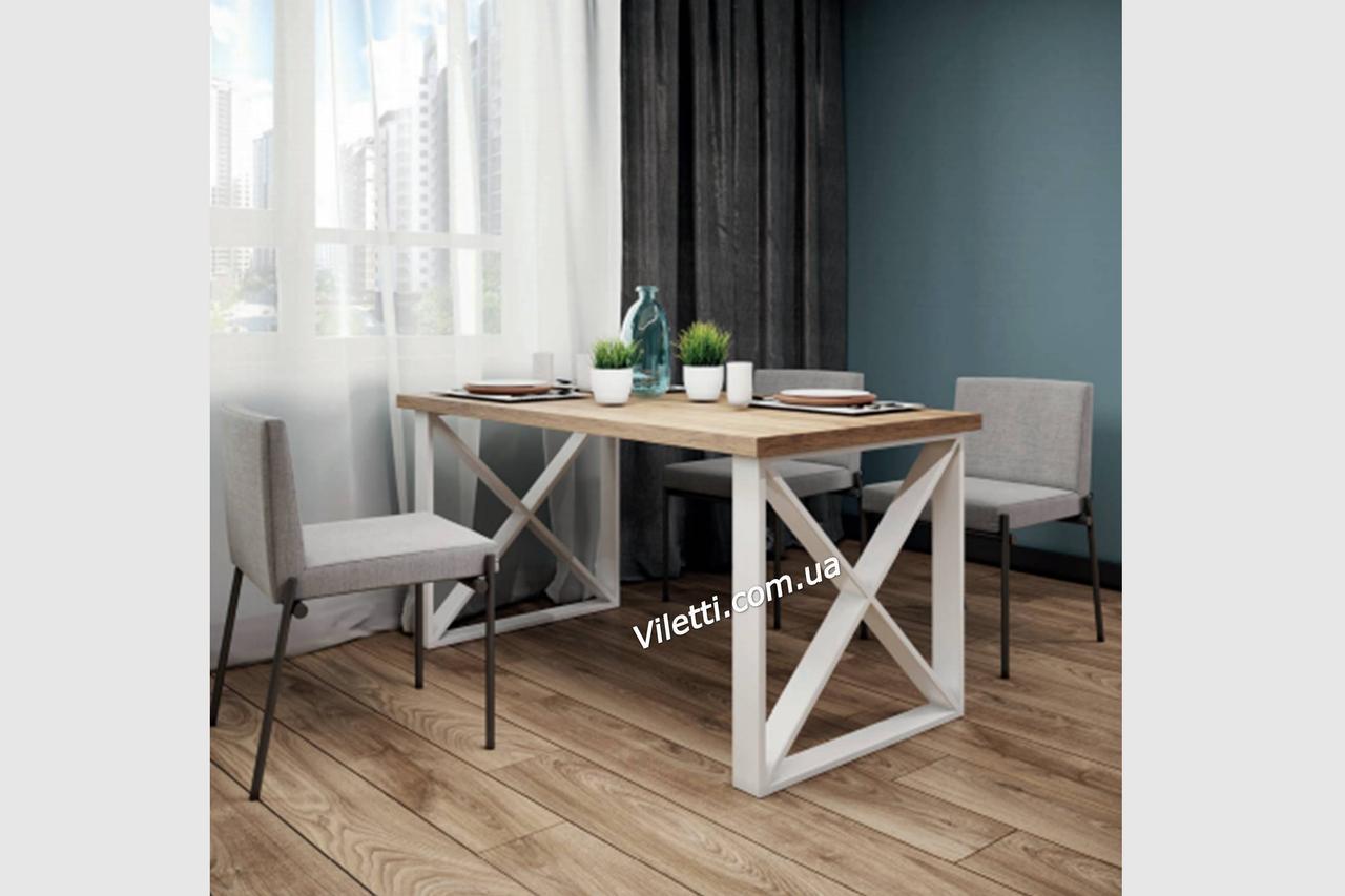 Стол, офисный стол в стиле лофт, обеденный стол, стол письменный Люксор Металл-Дизайн