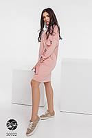 Трикотажное платье с боковыми карманами и отделкой лентой с 42 по 48 размер, фото 6