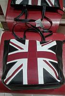 Стильная сумка-шоппер. Молодежная сумка. Качественная сумка. Купить сумку с британским флагом. Код: КЕ288