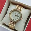 Жіночі наручні годинники Michael Kors золотистого кольору з світлим циферблатом, два ряди каменів, дата - код 1918