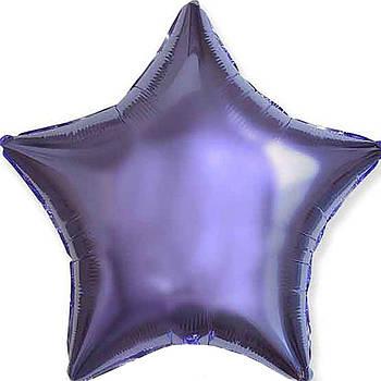 Фольгована Гелева Кулька Однотона Зірка Металік Лілова Flexmetal 18 (46 см)