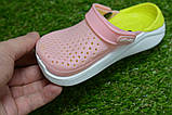Детские шлепанцы кроксы сабо crocs purple розовые салатовый  р24-29, фото 5