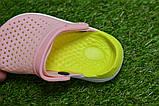 Детские шлепанцы кроксы сабо crocs purple розовые салатовый  р24-29, фото 6