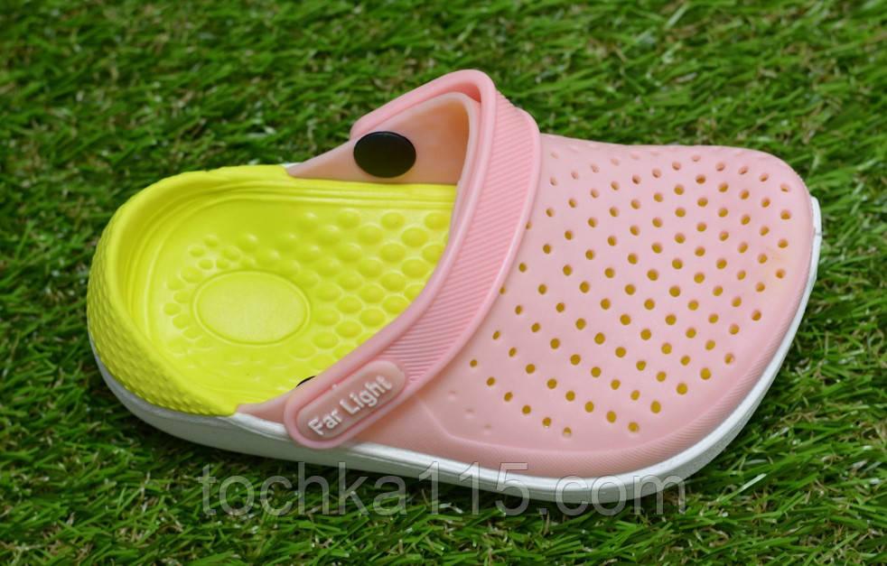 Детские шлепанцы кроксы сабо crocs purple розовые салатовый  р24-29