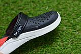 Детские шлепанцы кроксы сабо crocs rad black черные красные р24-29, фото 4