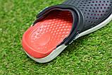 Детские шлепанцы кроксы сабо crocs rad black черные красные р24-29, фото 6