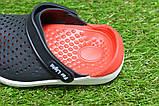 Детские шлепанцы кроксы сабо crocs rad black черные красные р24-29, фото 7