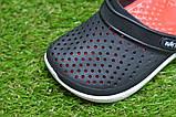 Детские шлепанцы кроксы сабо crocs rad black черные красные р24-29, фото 8