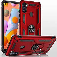 Чехол Shield для Samsung Galaxy M11 / M115 Бампер противоударный Red