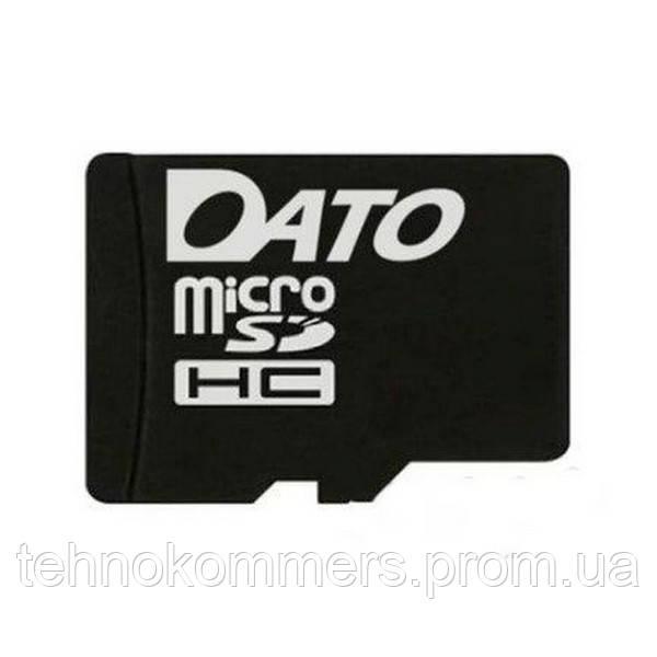 Карта пам'яті DATO microSDHC 4GB Class 4 W-10MB/s R-45MB/s