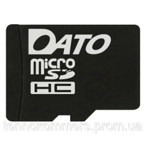 Карта пам'яті DATO microSDHC 4GB Class 4 W-10MB/s R-45MB/s, фото 2