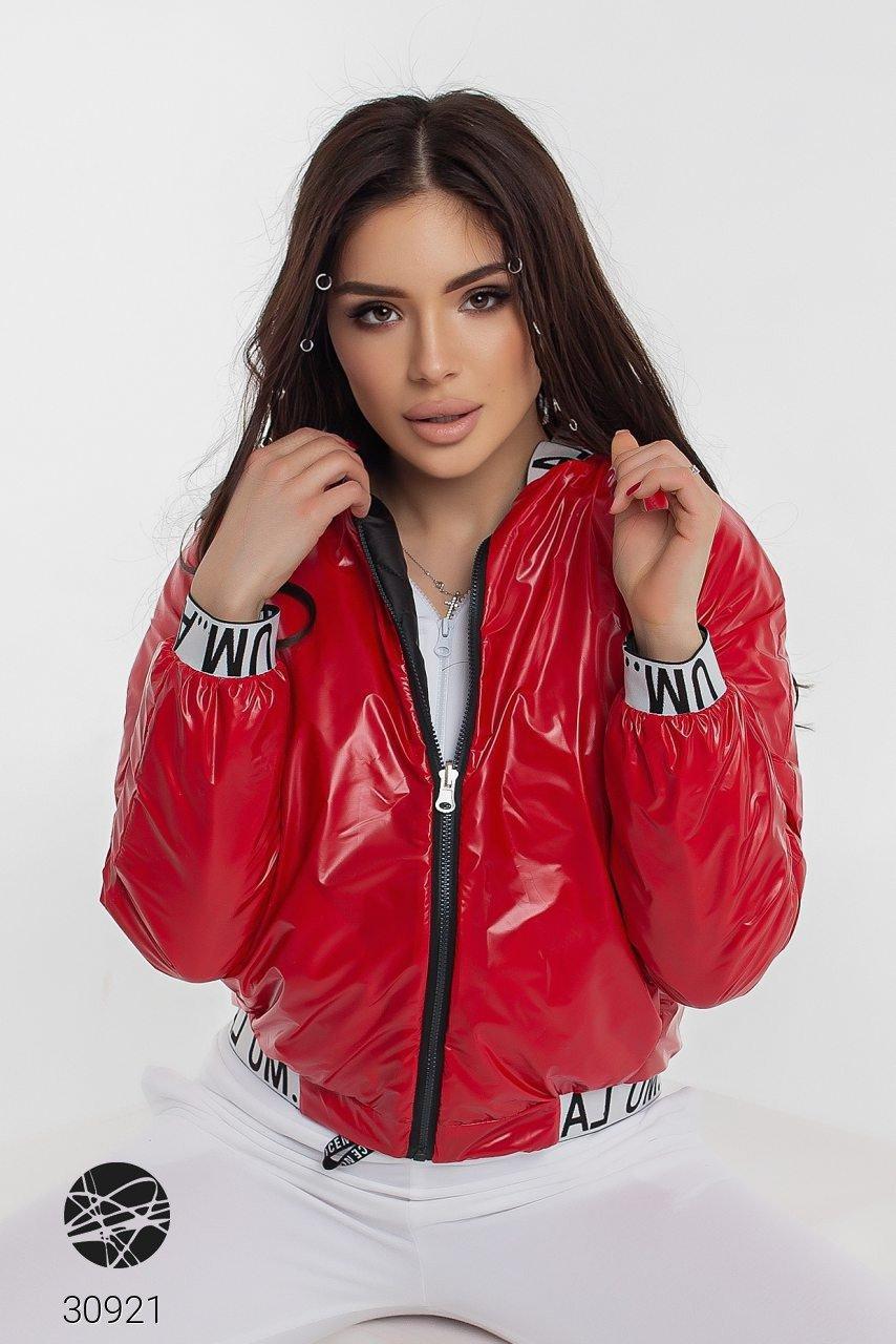 Двухсторонняя женская курточка-бомбер на синтепоне с 42 по 46 размер - SvitStyle