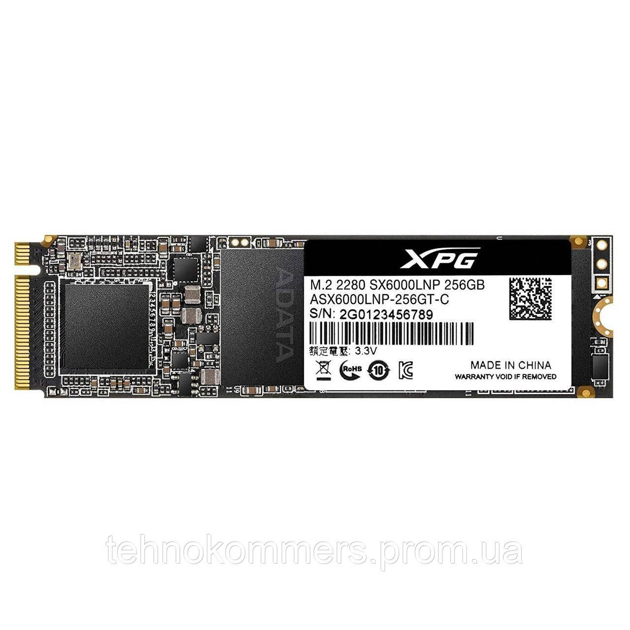 Накопичувач SSD A-DATA XPG SX6000 Lite 256GB M.2 PCI Express 3.0x4 3D NAND TLC