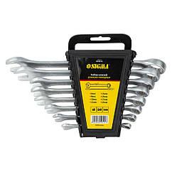 Ключи рожково-накидные 8шт 6-19мм CrV satine SIGMA (6010111)