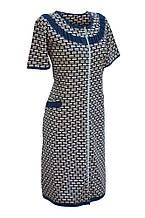 Халат женский рукав три четверти на молнию с карманами,  D&C fashion