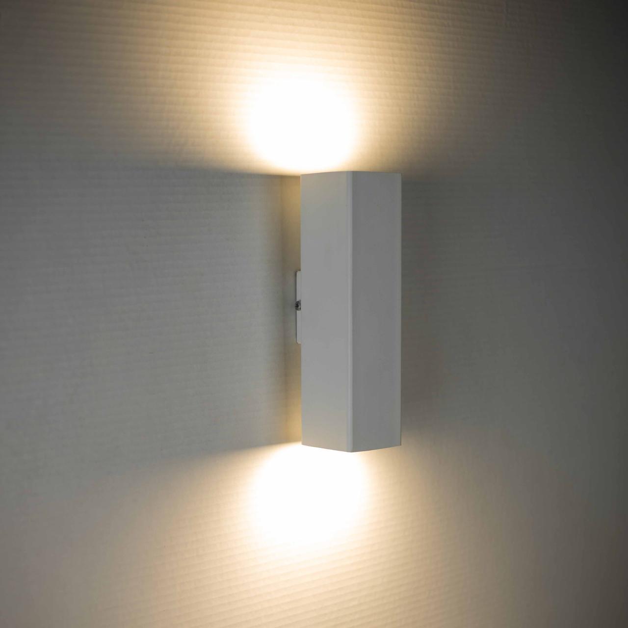 Світильник настінний під дві лампи квадрат Е27 SQ 2206 W MSK Electric
