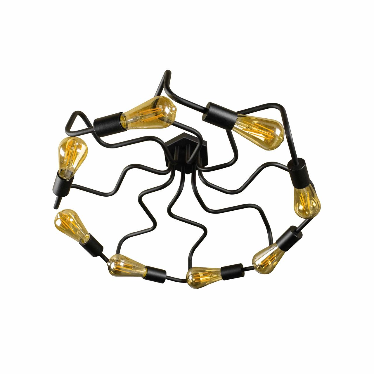 Люстра лофт на восемь ламп паук NL5526-8  MSK Electric