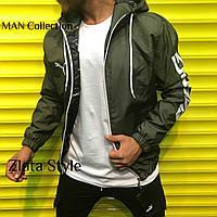 Чоловіча стильна вітровка з капюшоном