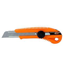 Нож строительный (пластиковый корпус) лезвие 18мм винтовой замок SIGMA (8213031)
