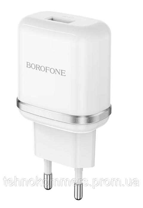 Мережеві зарядні пристрої Borofone BA36A High White, фото 2