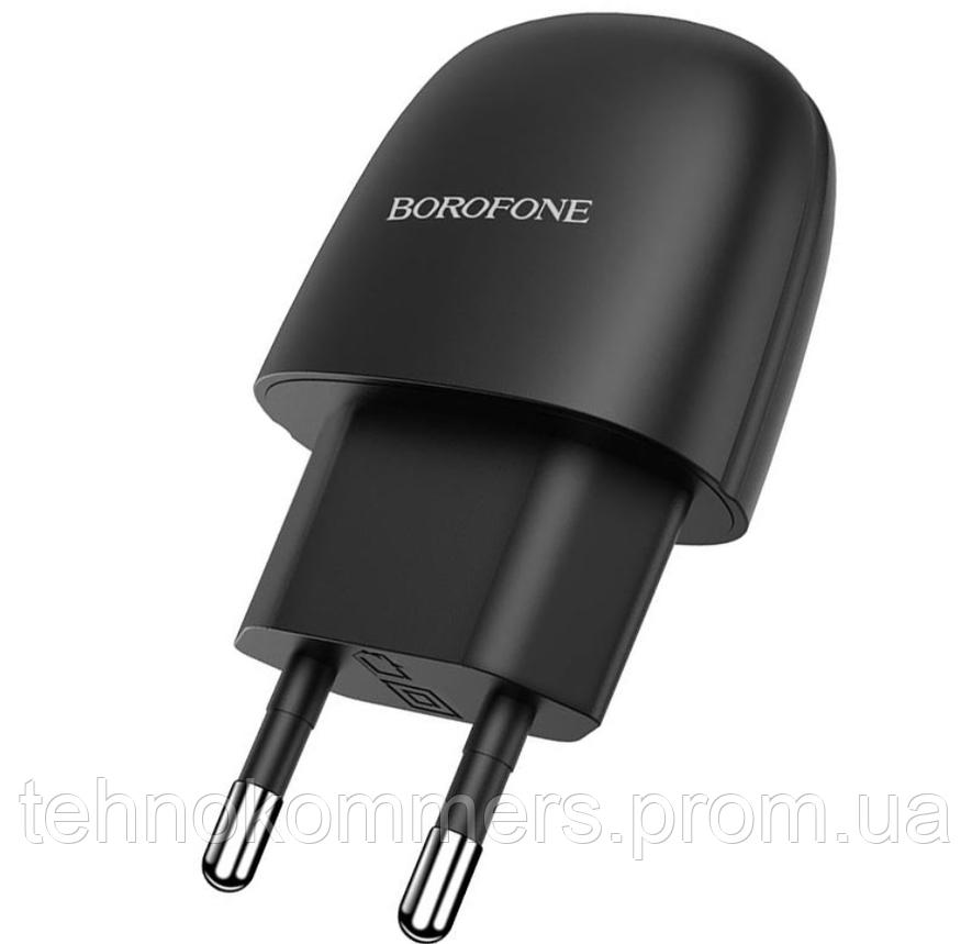 Мережеві зарядні пристрої Borofone BA49A Vast Black, фото 2