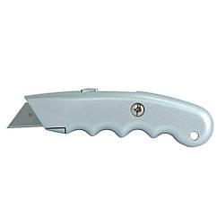Нож строительный (металлический корпус) лезвие трапеция автоматический замок SIGMA (8212031)