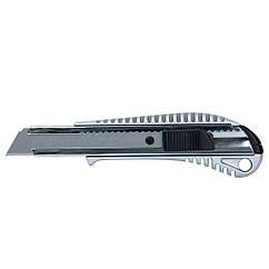 Нож строительный (металлический корпус) лезвие 18мм автоматический замок SIGMA (8211021)