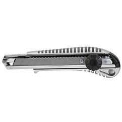 Нож строительный (металлический корпус) лезвие 18мм винтовой замок SIGMA (8211031)