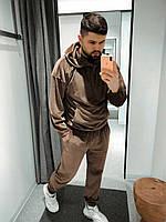 Cпортивный костюм мужской весенний демисезонный велюровый стильный новинка 2021