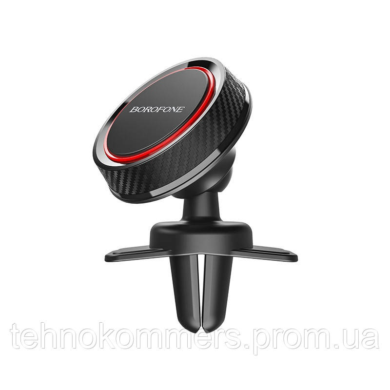 Тримач Borofone Journey series in-car phone holder for air outlet Black-Red, фото 2