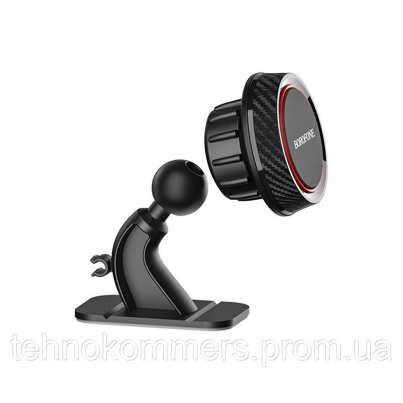 Тримач Borofone Journey series center console in-car holder Black-Red, фото 2