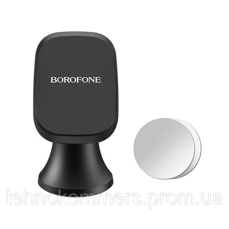 Тримач Borofone Ori magnetic in-car phone holder for center console Black