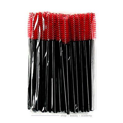 Щеточка для бровей и ресниц прямая Черный+красный
