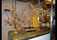 Оформление выставочных стендов - композиция из хлебобулочных изделий