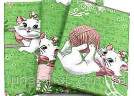 Детский полуторный комплект Кошечка Мари-7, (хлопок)