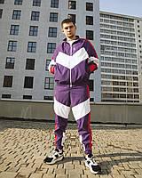 Спортивный костюм мужской Пушка Огонь Split фиолетово-розовый, фото 1