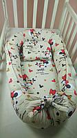 Кокон-гнездышко для новорожденного с ортопедической подушкой