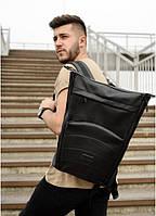 Роллтоп рюкзак мужской кожаный RollTop черный. Ролл топ городской рюкзак. Молодежный рюкзак из кожи. Рюкзак