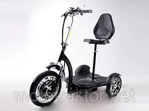Електросамокат сидіння (сидіння — спинка, передній амортизатор) (чорний) T06-3 48v500W 12AH — SM