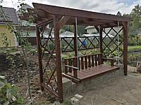 Качели для взрослых садовые из массива Лиственницы