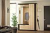 Прихожая Марк ДСП с зеркалом Венге / Мебель-Сервис