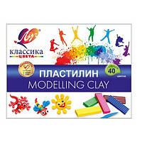 """Пластилин """"Луч"""" серии """"Классика"""", Набор 40 цветов, 800 грамм"""