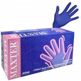 Перчатки нитриловые M (100шт) COBALT BLUE