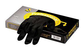 Перчатки латексные -черные M (20шт.) Mila