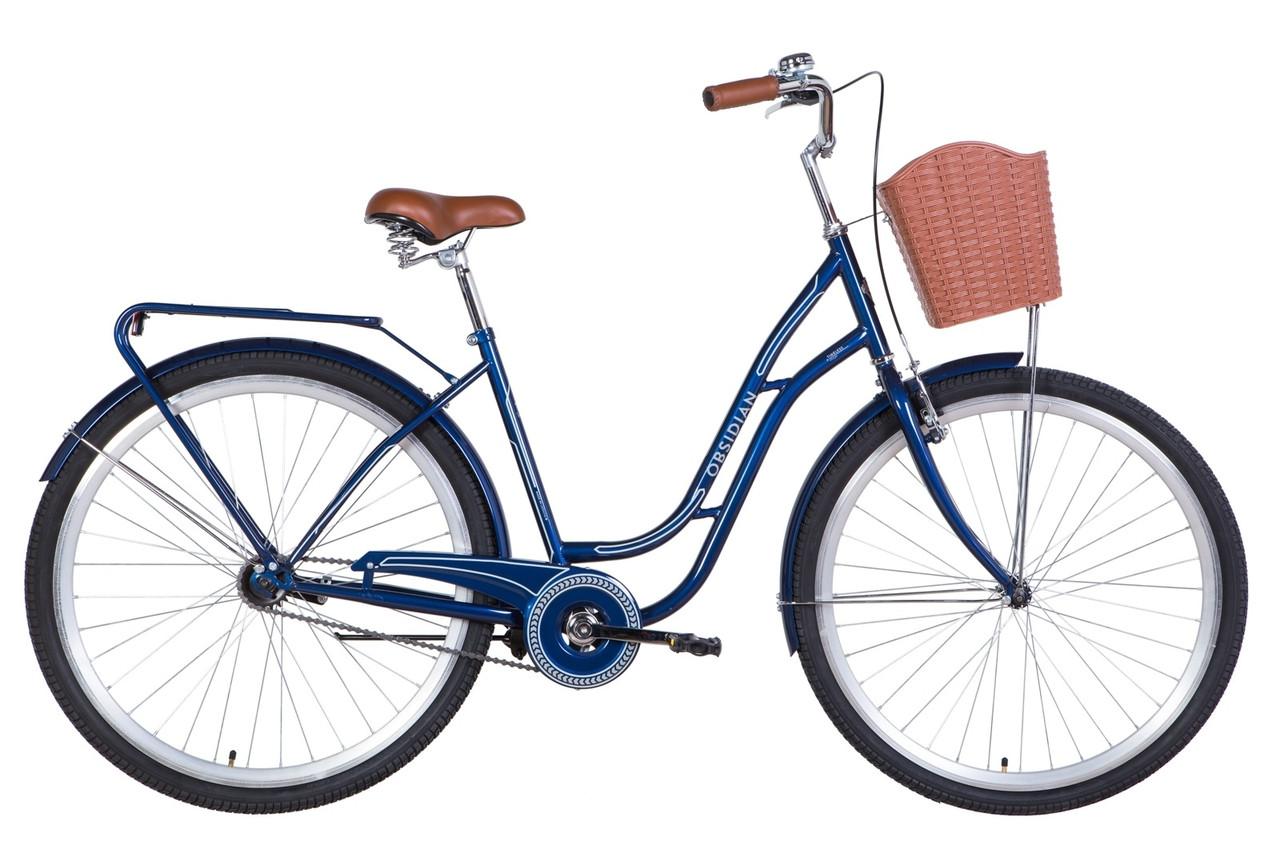 """Велосипед 28"""" Dorozhnik OBSIDIAN 2021 Розмір 19.5"""" темно-синій"""