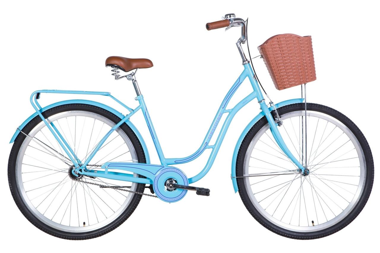 "Велосипед 28"" Dorozhnik OBSIDIAN 2021 Размер 19.5""  голубой"