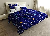 Хлопковое полуторное постельное белье из сатина.