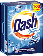 Порошок для стирки Dash белых вещей Alpen Frische 6.5кг 100 стирок