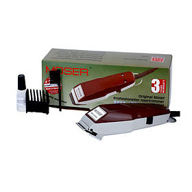 Машинка для стрижки Moser мини (красная, нож 0,1мм насадка 3-6мм)